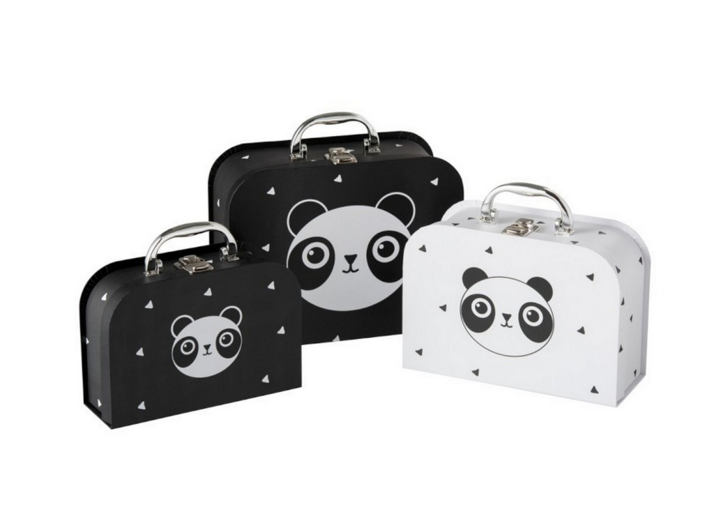 10. Panda koffertjes set 3 - zwartwitshop.nl