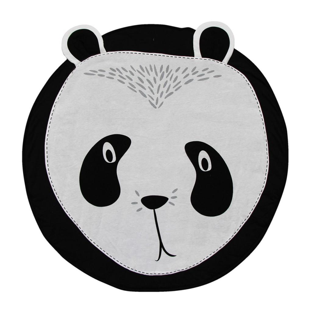 5. Panda Playmat met oortjes die net buiten het speelkleed vallen - mylittlecarpet.nl