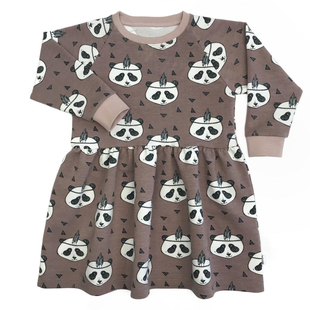 6. Jolie Dress Indian Panda van biologisch katoen - maat 80 tm 140 - xooz.nl