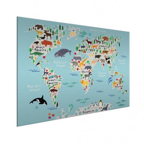 wereldkaart-ons-dierenrijk-op-aluminium (1)