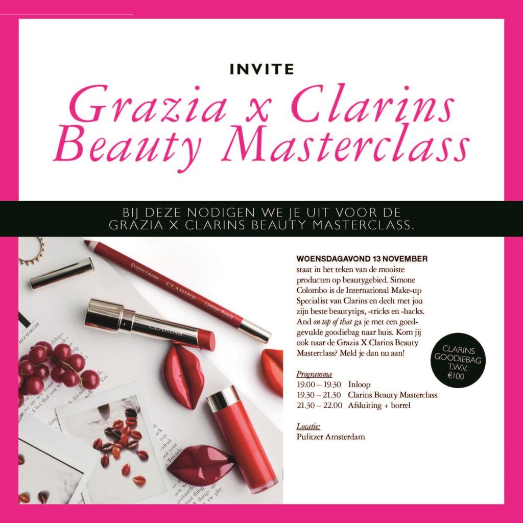 Clarins x Grazia Masterclass uitnodiging (1)